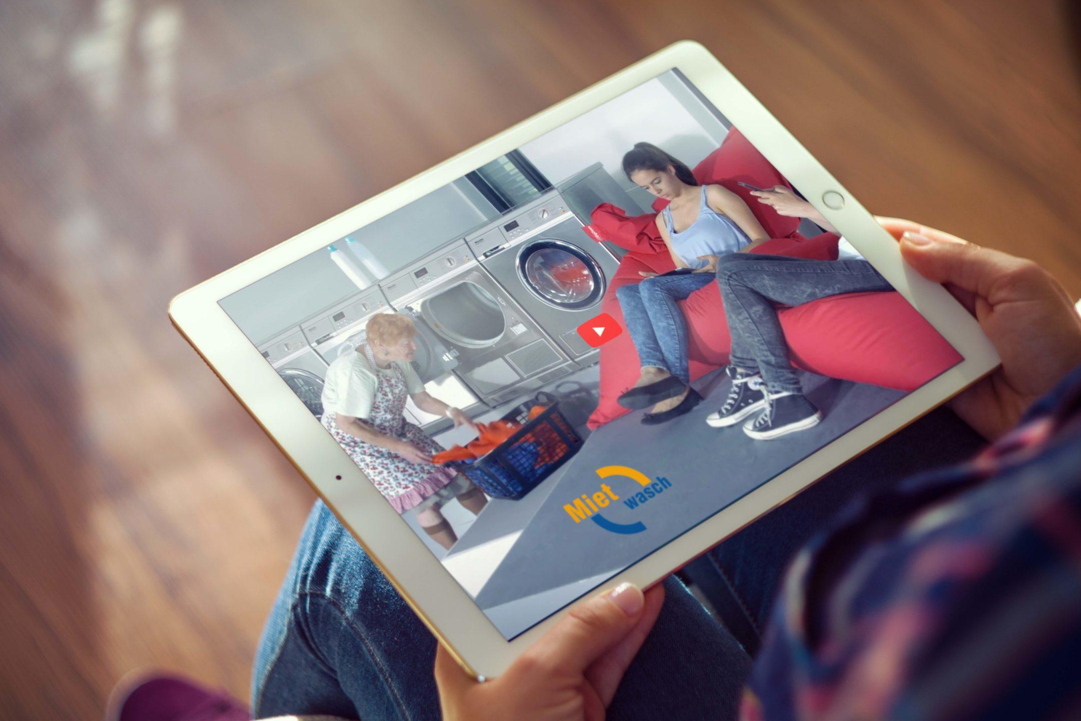 Mietwasch Film auf iPad